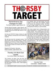 Thorsby Target - 2020.10.30